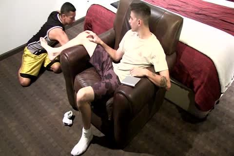 MILITARY CLASSIFIED JALEN, receives HIS FEET SUCKED AND JUST SO juicy, WOW